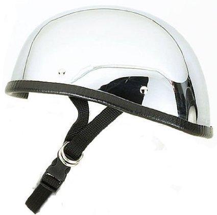 Chrome Novelty Motorcycle Helmet - 3