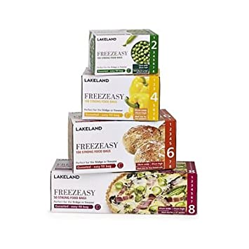 Lakeland Freezeasy Alimentos Bolsas de congelación, Reforzada, 41 x 51 cm, 50 Unidades: Amazon.es: Hogar