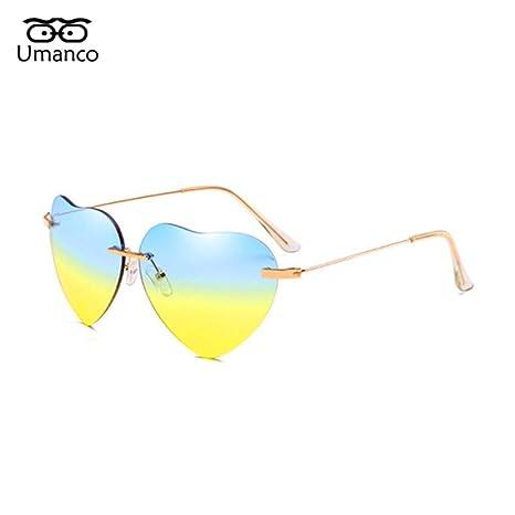 Yangjing-hl Gafas de Sol Retro del corazón del Amor del ...