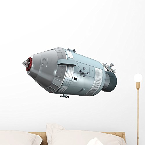 Wallmonkeys Apollo Command Service Module Wall Decal Peel and Stick Graphic WM161697 (24 in W x 19 in H)