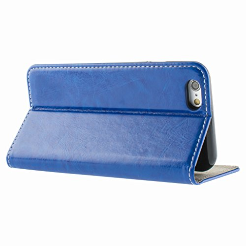 Better Style Apple iphone 5s Case cover, Apple iPhone 5s Blue Designer Style Wallet Case Cover