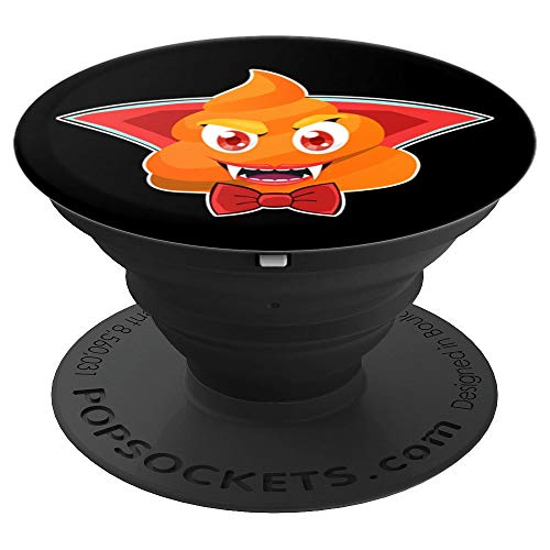 Halloween Dracula Poop Emoticon Funny Vampire Poo - PopSockets Grip and Stand for Phones and Tablets