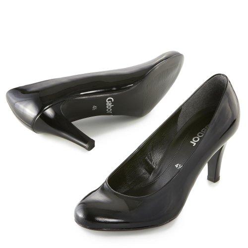 Gabor Women's Lavender Leather Platforms Heels black patent NYYN6g6T1