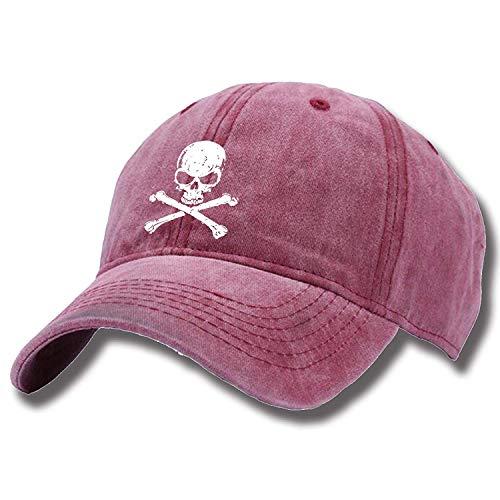 - Classic Crossbone Skull Head Portrait Unisex Fashion Baseball Cap Adjustable Cap Breathable Durable Vintage Trucker Cap