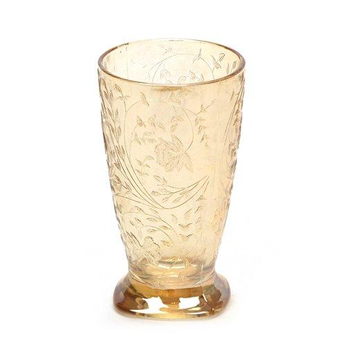 Louisa Iridescent by Jeannette, Glass Lemonade Tumbler, -