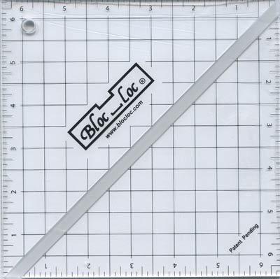 Bloc Loc~6.5'' Half Square Triangle Ruler, Acrylic Ruler by Bloc Loc