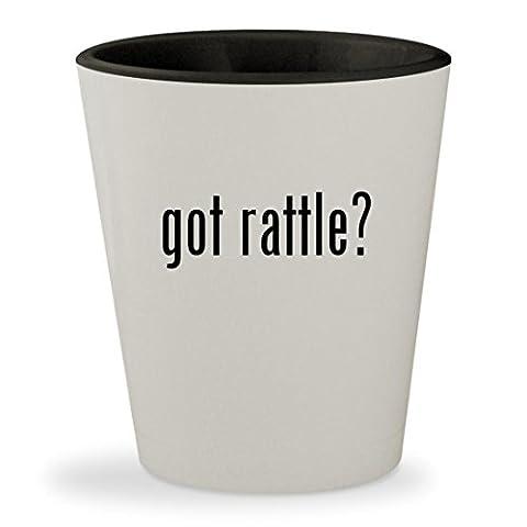 got rattle? - White Outer & Black Inner Ceramic 1.5oz Shot Glass (Bla Bla Rattle)