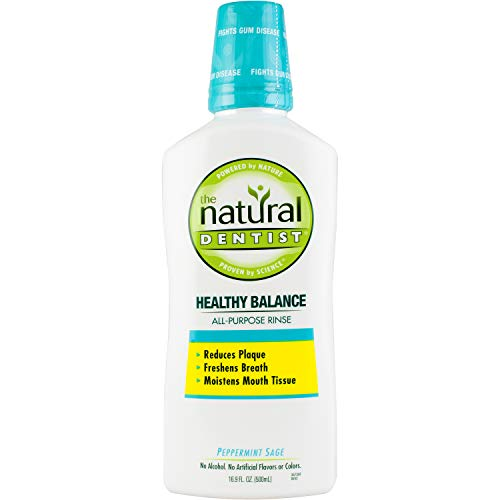 The Natural Dentist Healthy Balance All Purpose Mouth Rinse, Peppermint...