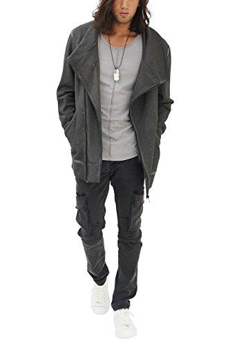 Marca Designer Sueter Basico Slim Redondo Jacket Antracita Rock Chaqueta Urban Hombre Moda Fashion Cool Cuello Zip Sudadera Casual Vestir Vintage Fit Trueprodigy Manga Ropa Retro Larga SqUwxEEC