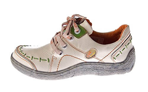 Verde lacci Nero Look Eyes in Used Beige comode Bianco nei Azzurro Scarpe Bianco TMA Bianco pelle donna 1646 Scarpe Sneakers da con colori sportive Rosso 6vAq1