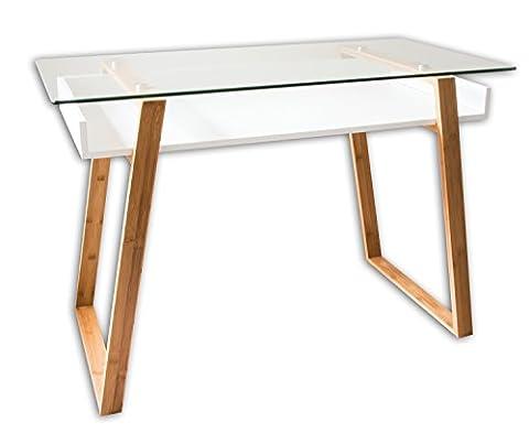 Bonvivo Designer Desk Massimo, Modern Secretary In A Contemporary Design - Bamboo Style Legs