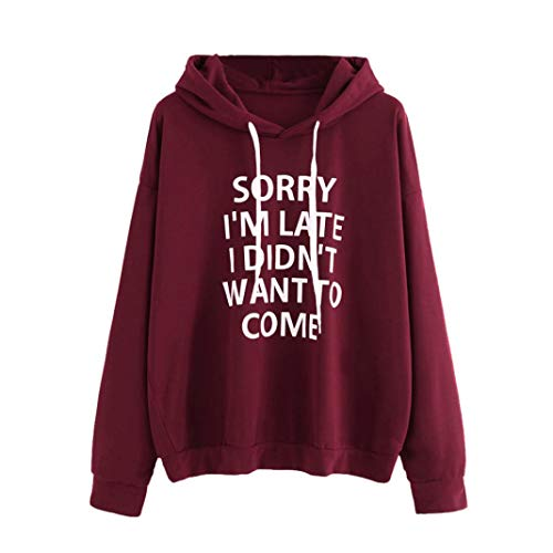Clearance! Seaintheson Women Hoodie Top, Womens Letters Print Long Sleeve Shirt Sweatshirt Pullover Blouse from Seaintheson Women Tops