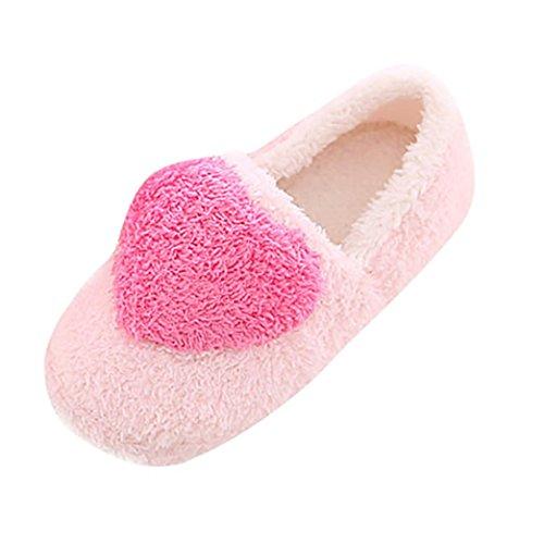 Chaussons de Floor Semelle chaussons Rose rembourré Slippers Pantoufles Soft Plush Slippers femmes chaussures coton Winter Amlaiworld intérieures Home nrqfr4W7