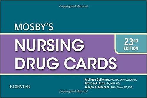 Mosby's Nursing Drug Cards, 23e: 9780323320818: Medicine & Health ...