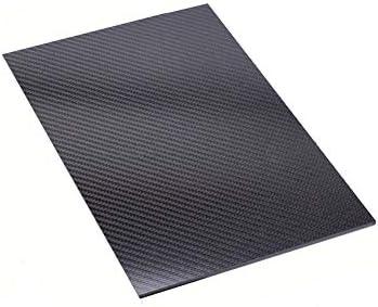 SOFIALXC Carbon Board 100% Carbon Blatt Laminat Platte Panel Twill Matt Finish Für DIY Unbemannte Rack Cars Material,200x250mm,0.5mm