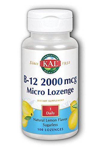 KAL B-12 2000 Lemon Tablets, 2000 mcg, 100 Count