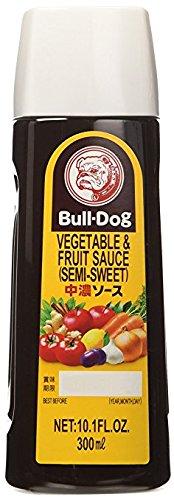 Bull-Dog Vegetable & Fruit Sauce (Semi-Sweet), 10.1-Ounce Plastic Bottles  (Pack of (Bulldogs Hot Sauce)