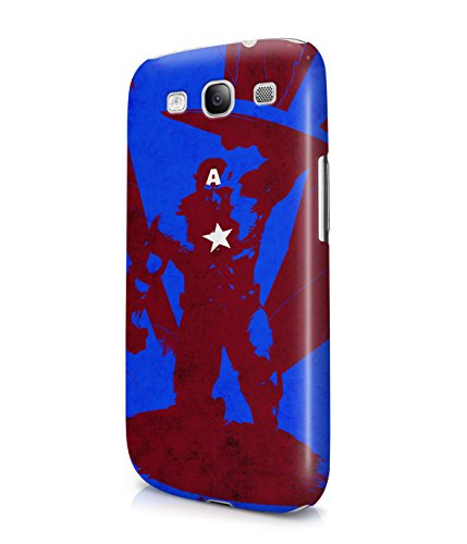 Captain America The First Avenger Grunge Plastic Snap-On Case Cover Shell For Samsung Galaxy S3