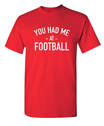 Had Me at Football Funny Youth Kids T Shirt YS Red ()