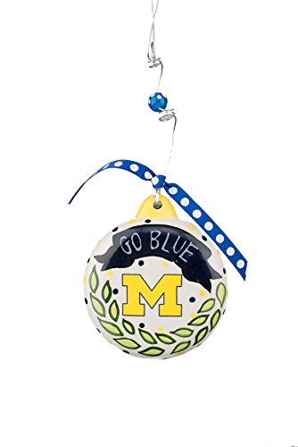 Michigan State Spartans Ornaments (Glory Haus 42000622 Michigan Puff Ornament, Multicolor)