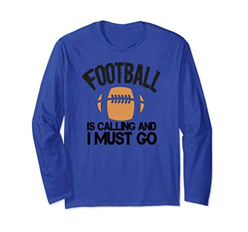New Football Fan Long Sleeve Shirt Fantasy Sports Game ()