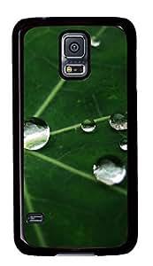 Diy Fashion Case for Samsung Galaxy S5,Black Plastic Case Shell for Samsung Galaxy S5 i9600 with Dewdrop