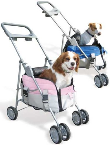 Pet Valet Pet Stroller / Carrier in Pink Paws Aboard PA-9002 PAQ1002
