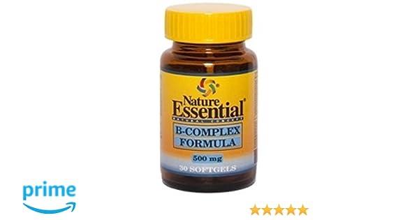 B-complex formula 500 mg. 30 perlas con vitaminas C, E, B-1, B-2, B-3, B-5, B-6, B-9, B-12 y Biotina: Amazon.es: Salud y cuidado personal