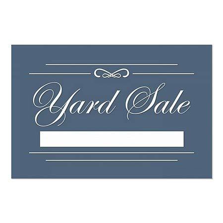 Yard Sale CGSignLab 5-Pack 36x24 Classic Navy Window Cling