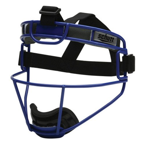 Schutt Sports Youth Softball Fielders Faceguard, Titanium Sigma Royal Blue by Schutt