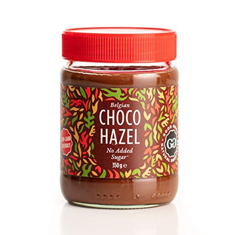 Belgian Choco Hazel with Stevia 12 oz (350g) - No Added Sugar - A healthy & delicious Option For Those Who Love Chocolate Spreads - Gluten Free - Vegetarian Friendly
