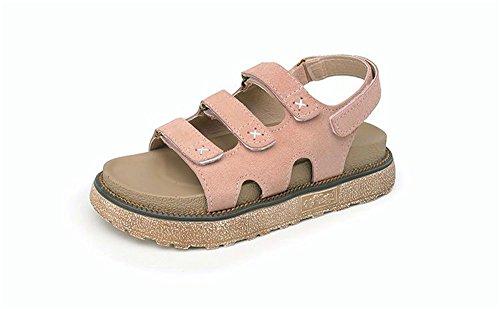opaca velcro in impermeabile spesso albicocca scarpe grandi impermeabile pelle di estiva dimensioni ShangYiSandali piattaforma fondo dtSwq5S