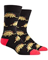 Sock It To Me Tacosaurus Mens Crew Socks by Animewild