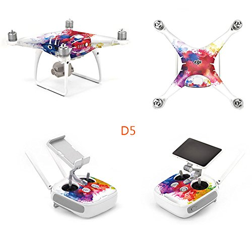 OK-STORE Exclusive Decoration Wrap Skin Decal Kit for Phantom 4 Pro Quadcopter Drone Body Shell, DJI Phantom 4 PRO Portable Collapsible Mini Racing Drone Water-resistant PVC (Store Decorations)