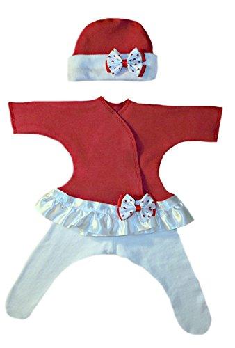 Jacqui's Baby Girls' Red Sassy Dress, Preemie