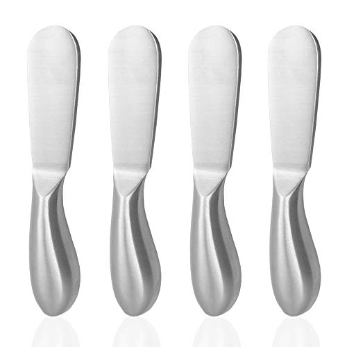 4 Pieces Cheese Spreader Set, SourceTon Stainless Steel Multipurpose Cheese and Butter Spreader Knives