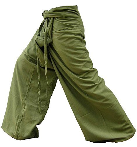 (Yoga Pants Fisherman Trousers Day-to-day Relaxation Wear Around the House Plus Size Color Solid Olive)
