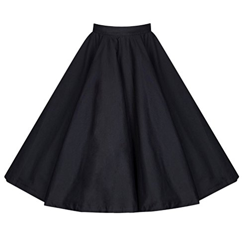 Cocktail Rtro Noir Yiiquan Casual Tutu Simple Vintage Jupe lgante Longue Bureau Femmes Classique Stretch Pliss Party wOxq8FARw