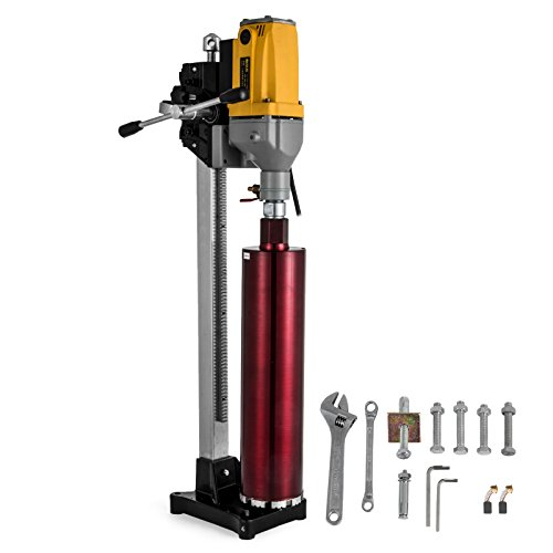 "Happybuy Diamond Drilling Machine 6"" 160MM Drilling Capacity 110V Diamond Core Drill Rig Diamond Core Drilling Machine with Drill Bit for Wet Dry Concrete Brick Block (160MM)"