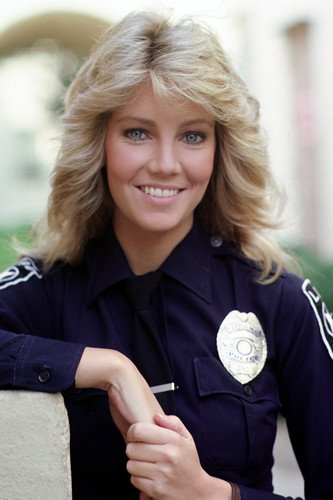 Heather Locklear In Tj Hooker In Police Uniform Smiling