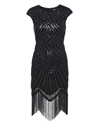 BABEYOND Women's Flapper Dresses 1920s Beaded Fringed Great Gatsby Dress (Great Gatsby Dresses)