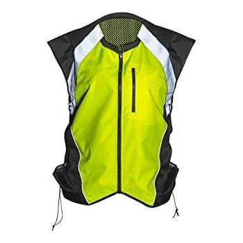 402c42c886 Badass Moto Gear Hi Vis Reflective Motorcycle Vest. Mil-Spec. No Logo, Fits  Over Jackets. Adjustable Sides, Zipper Front & Pocket.