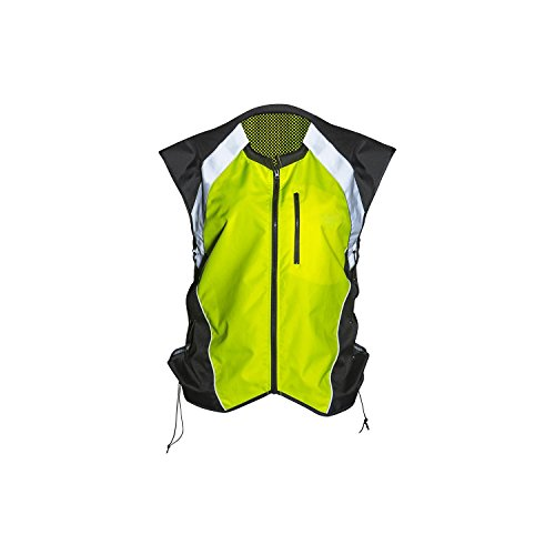 (Badass Moto Gear Hi Vis Reflective Motorcycle Vest. Mil-Spec. No Logo, Fits Over Jackets. Adjustable Sides, Zipper Front & Pocket. Bikers, ATV, Hunting, Cycling, Military, XL)