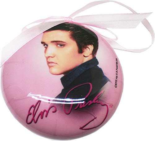 Elvis Presley Pink Christmas Tree Ornament