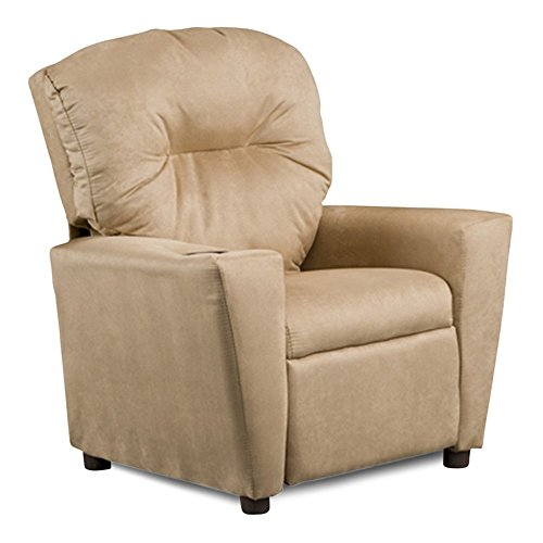 Kidz World Solid Color Kids Suede Recliner by Kidz World