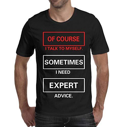 Crazy Funny Dog Expert Advice Men's Short Sleeve Cotton Tshirts Crew Neck Novetly Top