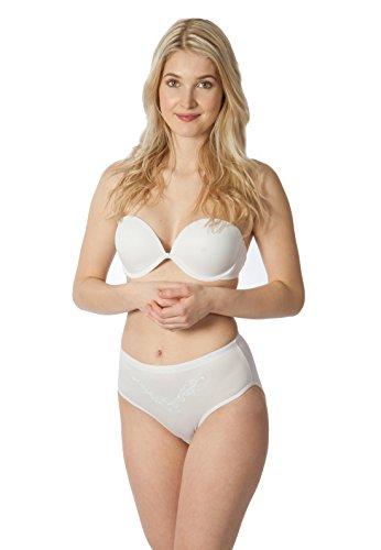 High Cut Full Brief (RUFINA Women's High Cut Full Brief Panties Underwear Silky Soft Comfort Briefs, Pack Of 5)