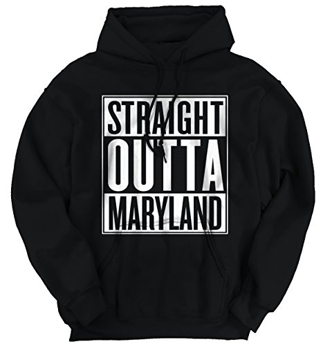 Hot Straight Outta Maryland State Funny Movie T Shirts Gift Ideas Hoodie Sweatshirt hot sale