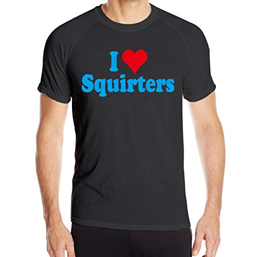 I Love Squirters (I Love SQUIRTERS Men's Short Sleeve T-Shirt Quick-Drying Running Tops)