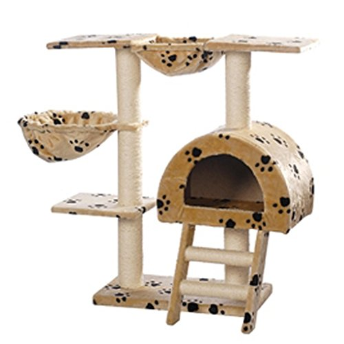 Arbre--chat-105-cm-en-beige-avec-motif-dempreinte-de-patte